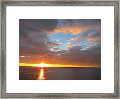 Caribbean Cruise - On Board Ship - 1212176 Framed Print by DC Photographer