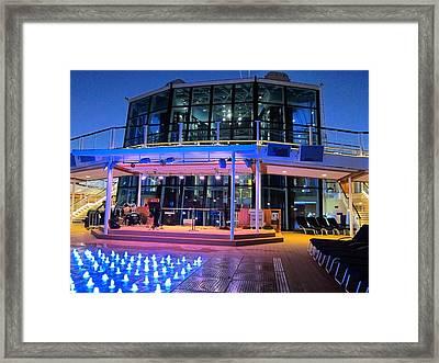Caribbean Cruise - On Board Ship - 121238 Framed Print by DC Photographer