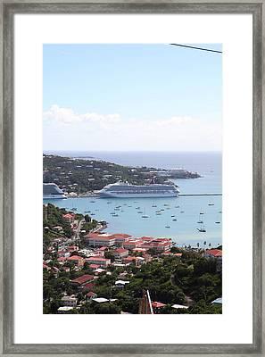 Caribbean Cruise - St Thomas - 1212282 Framed Print by DC Photographer