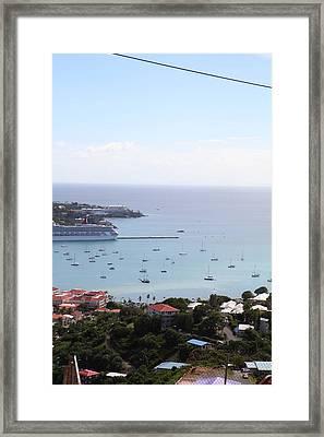 Caribbean Cruise - St Thomas - 1212283 Framed Print by DC Photographer