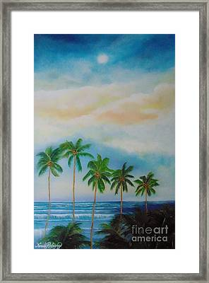 Framed Print featuring the painting Caribbean Dream by Nereida Rodriguez