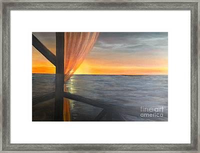 Caribbean Flash Framed Print