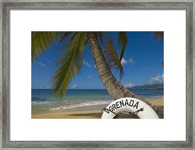 Caribbean, Grenada, Life Buoy Framed Print by Chris Parker