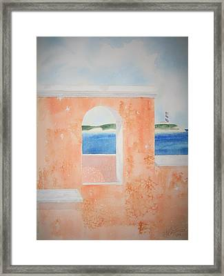 Caribbean Guard Framed Print by Jeff Lucas
