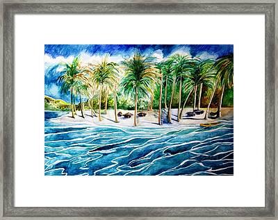 Caribbean Harbor Framed Print