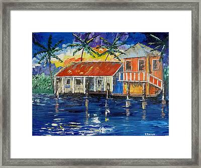 Caribbean House Framed Print
