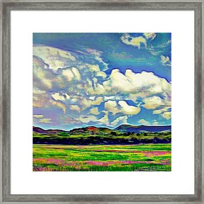 Caribbean Island Landscape - Square Framed Print