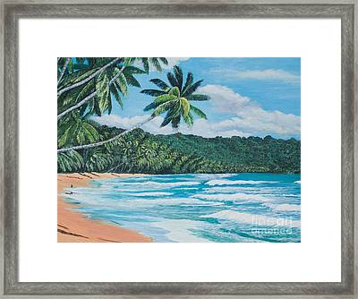 Caribbean Jewel -3 Framed Print