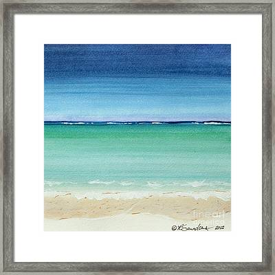 Reaf Ocean Turquoise Waters Square Framed Print