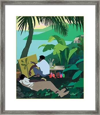 Caribbean Painter Framed Print