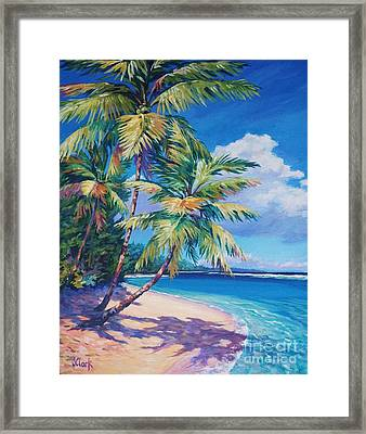 Caribbean Paradise Framed Print by John Clark