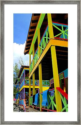 Caribbean Porches Framed Print