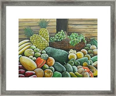 Caribbean Produce Framed Print by Kenneth Harris