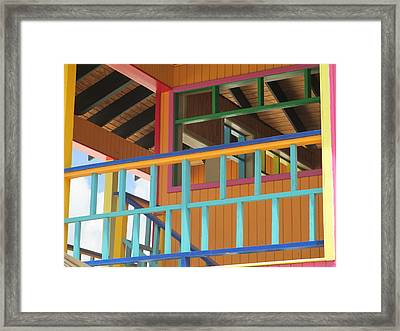 Caribbean Railings Framed Print