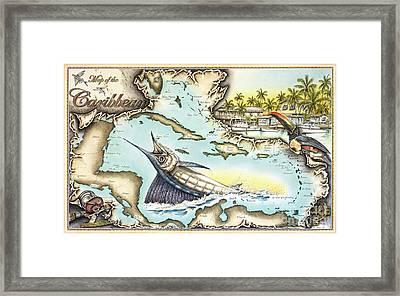 Caribbean Sails Framed Print