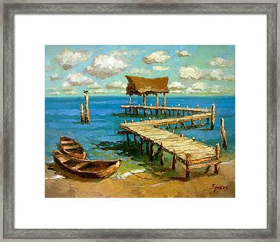Caribbean Sea 2 Framed Print by Dmitry Spiros