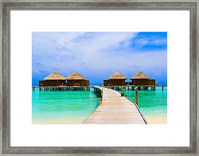 Caribbean Sea Framed Print by Boon Mee