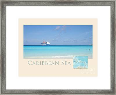 Caribbean Sea Framed Print by Heidi Hermes