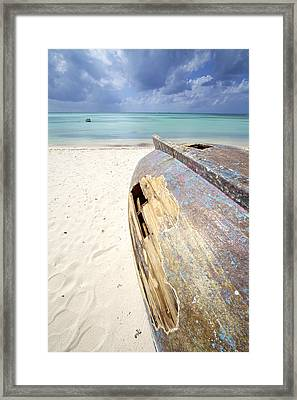 Caribbean Shipwreck Framed Print