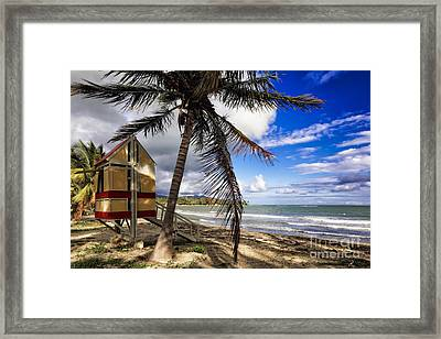 Caribbean Side Of Puerto Rico Framed Print by George Oze
