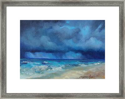 Caribbean Storm Framed Print by Chris Brandley