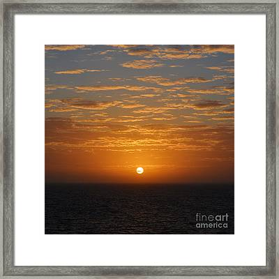 Caribbean Sunrise And Clouds Over Cozumel Mexico Square Format Framed Print