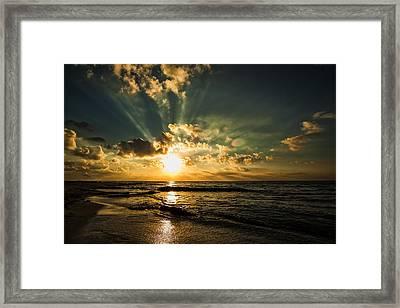 Caribbean Sunrise Framed Print by Stuart Deacon