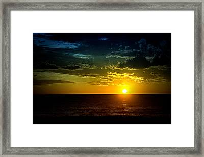 Framed Print featuring the photograph Caribbean Sunset ... by Chuck Caramella