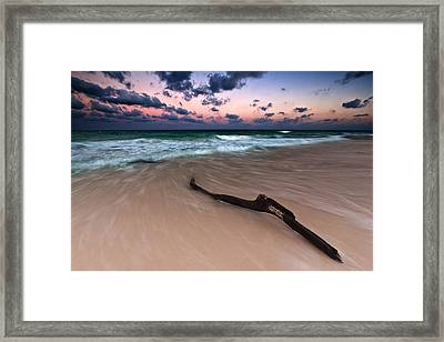 Caribbean Sunset Framed Print by Mihai Andritoiu