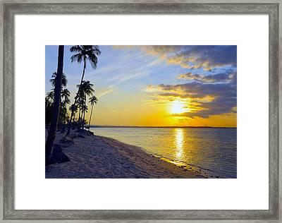 Caribbean Sunset Framed Print by Stephen Anderson