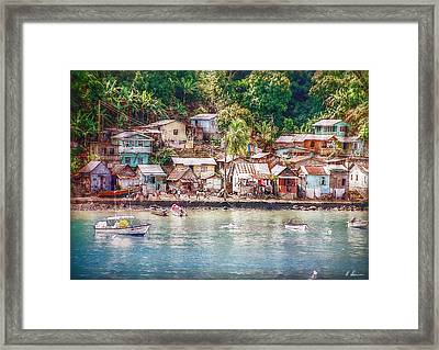 Framed Print featuring the photograph Caribbean Village by Hanny Heim