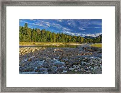 Cariboo Creek In Burton, British Framed Print by Chuck Haney