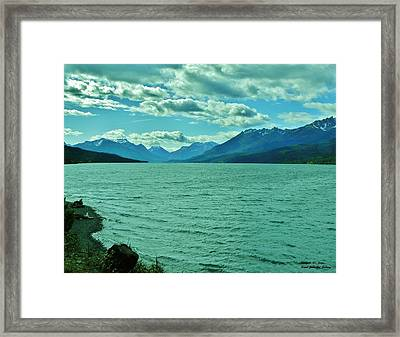 Cariboo Lake View Framed Print by Barbara St Jean