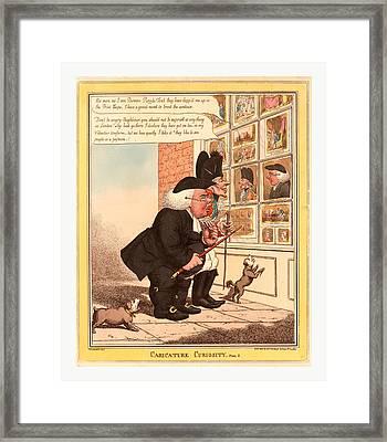 Caricature Curiosity Framed Print by English School