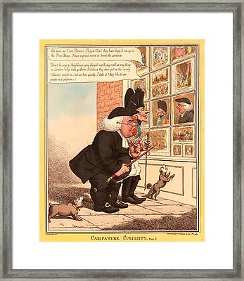 Caricature Curiosity Framed Print by Litz Collection