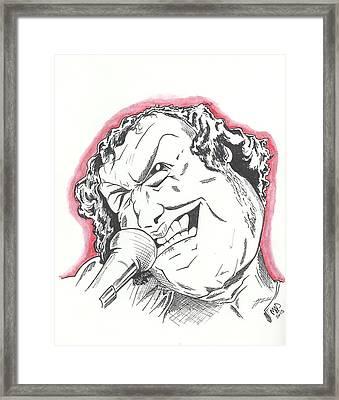 Caricature Joe Cocker Framed Print