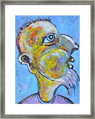 Caricature Of A Wise Man Framed Print by Ion vincent DAnu