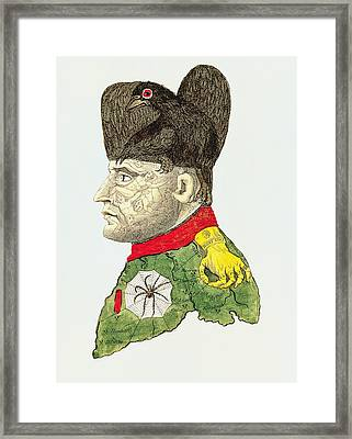 Caricature Of Napoleon Bonaparte Framed Print by English School
