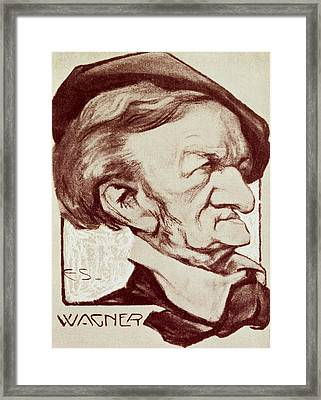 Caricature Of Richard Wagner Framed Print by Anonymous