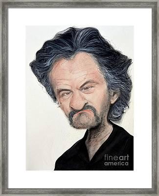 Caricature Of Robert De Niro As Louis Gara In The Movie Jackie Brown Framed Print