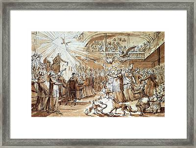 Caricature Of The Clergy At The Constituent Assembly Framed Print