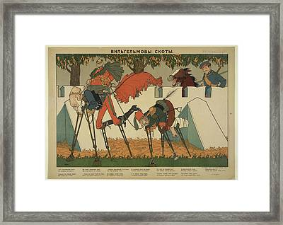 Caricature Of Wilhelm II And His Allies Framed Print