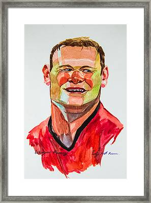 Caricature Wayne Rooney Framed Print by Ubon Shinghasin