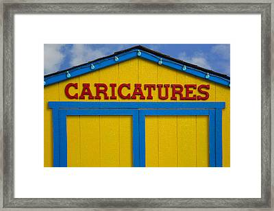 Caricatures Framed Print