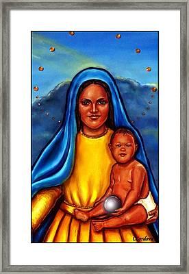 Caridad Del Cobre-3 Framed Print by Carmen Cordova