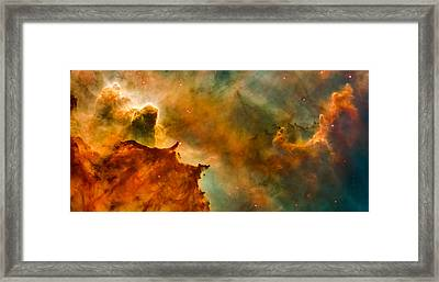 Carina Nebula Details - Great Clouds Framed Print by Marco Oliveira