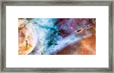 Carina Nebula Details - The Caterpillar Framed Print by Marco Oliveira