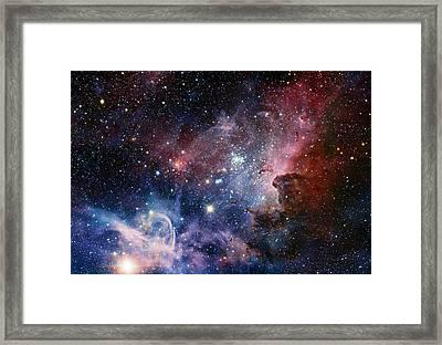 Carina Nebula Framed Print by Eso/t. Preibisch
