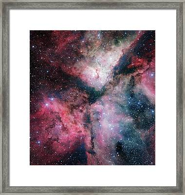 Carina Nebula Framed Print by European Southern Observatory