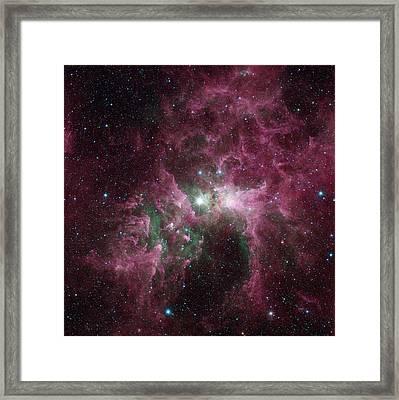 Carina Nebula Framed Print by Nasa/jpl-caltech